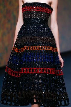 A gorgeous dress from HC Fall 2013 Christian Dior. (image from style.com)