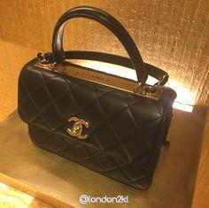 Chanel Top Handle in Black Lambskin