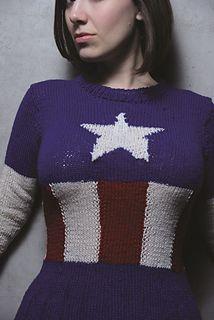 Captain America sweater   Linda J. Dunn