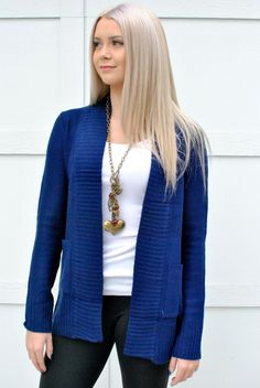 tunic length cardigan sweaters with front pockets. 5 colors sizes S,M, L