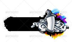 Buy Graffiti Image of Can with Arrows by Vecster on GraphicRiver. Graffiti image of can with arrows. Graffiti Art, Graffiti Bedroom, Graffiti Images, Graffiti Doodles, Graffiti Lettering Fonts, Graffiti Designs, Spray Tattoo, Vexx Art, Tinta Spray