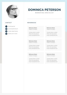 Make your resume, cover letter and references look fantastic and consistent with a modern, creative and professional resume template pack. One Page Resume Template, Modern Resume Template, Creative Resume Templates, Cover Letter For Resume, Cover Letter Template, Letter Templates, Resume References, Creative Cv, Microsoft Word 2007
