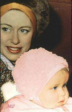 Princess Margaret and her daughter Sarah. Princess Charlotte resembles these two members of the Royal Family.