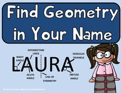 Geometry - Geometry Activity - Find Geometry in Your Name