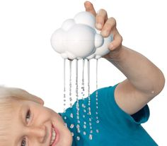 The Plui rain cloud is the latest in a growing list of innovative toys from Moluk – the makers of the award-winning Bilibo. Best Educational Toys, Cloud Shapes, Thing 1, Rain Clouds, Best Bath, Water Toys, Inspiration For Kids, Baby Store, Baby Play