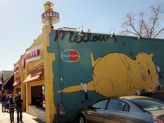 Supposed to be the best pizza in Austin - Mellow Mushroom, 2426 Guadalupe (between & UT campus. Best Pizza In Austin, Mellow Mushroom Pizza, Austin Murals, Lausanne, Good Pizza, World Traveler, North America, Stuff To Do, Stuffed Mushrooms