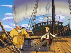 The curse of Monkey island - I'm Guybrush Threepwood, mighty pirate.