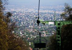 """Flying chairs above Budapest – the """"Libegő"""" (Flutter) The Chair Lift (""""Libegő"""" literally """"flutter"""") is the one of the most interesting sights of the hills of Buda. Weekend Deals, E Design, Washington Dc, Bugs, Beautiful Places, World, City, Pictures, Things To Sell"""
