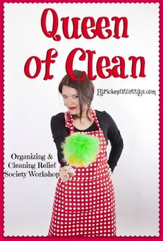 Just the invite and name...you can't acess the enrichment cottage site...Queen of Clean Activity — LDS Enrichment Cottage| Relief Society