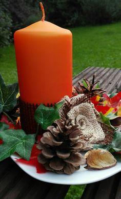 Podzimní svícen Pillar Candles, Candles