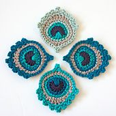 ****Inspiration**** Ravelry: Crochet Motif or Garland: Small Peacock Feather pattern by Christa Veenstra