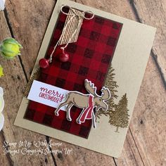 Stampin' Up! Merry Moose Video Tutorial – Stamp It Up with Jaimie Stampin' Up! Merry Moose Video Tutorial – Stamp It Up with Jaimie Stampin Up Christmas, Christmas Cards To Make, Christmas Tag, Xmas Cards, Handmade Christmas, Holiday Cards, Stampinup Christmas Cards, Stamping Up Cards, Winter Cards