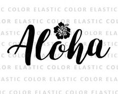 Aloha svg file - aloha t shirt designs with hibiscus and cricut and cameo file svg, png, dxf, eps