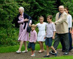 Royal Family Around the World: Annual Summer Photocall For The Danish Royal Family At Grasten Castle on July 25, 2015 in Grasten, Denmark
