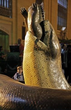 Check out Titanoboa, Grand Central Station. Ancient Snake, 48 feet long, waist high.