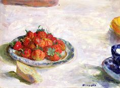 Strawberries, 1922 (oil on canvas) / Pierre Bonnard