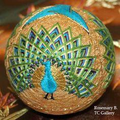 Peacock temari