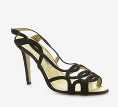 Manolo Blahnik Dark Brown Sandal.