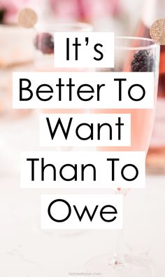 It's Better To Want Than To Owe – Finance tips, saving money, budgeting planner Financial Quotes, Financial Peace, Financial Literacy, Financial Tips, Money Tips, Money Saving Tips, Business Insurance Companies, Business Ideas For Ladies, Business Advice
