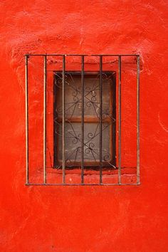 Window E by Larysa Luciw Red Windows, Windows And Doors, Red Light Green Light, Orange Aesthetic, Stairway To Heaven, Color Inspiration, Travel Inspiration, Stained Glass Windows, House Colors