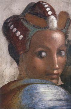 ❤ - MICHELANGELO BUONARROTI - (1475 - 1564) - Sistine Chapel - Ancestors of Christ - Jacob-Joseph (detail).