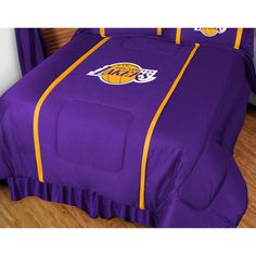 Los Angeles Lakers NBA Side Line Collection Bed Comforter Twin