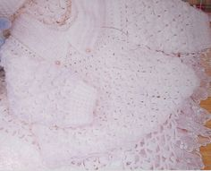 AS RECEITAS DE CROCHÊ: Saida de maternidade em croche