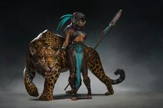 ArtStation - The Jaguar, Aleksandra Skiba Fantasy Warrior, Fantasy Rpg, Fantasy World, Character Concept, Character Art, Concept Art, Bastet, Aztecas Art, Style Tribal