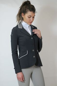 234ffd035de Women s Lightweight Technical Show Jacket with Contrast Collar and Piping