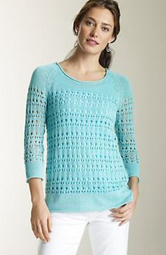 $89 J. Jill-linen and cotton delicate pullover