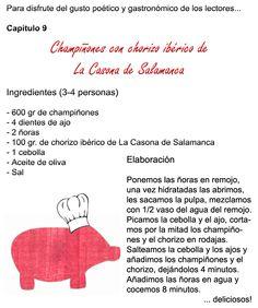 Champiñones con #chorizo #ibérico.