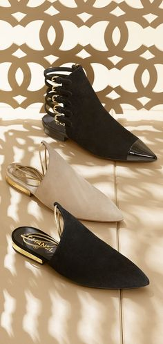 #Chanel Kidskin Suede Slippers and Ankle Boots - Cruise Collection 2014/2015