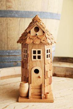 Clay birdhouse idea