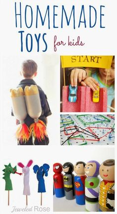 Crafts for Kids (DIY Inspiration): From homemade peg dolls to sock puppets, to DIY playsets, this list is packed with great gifts for kids. Click through and find step-by-step instructions for each DIY project. #kidscrafts #diytoys @JeweledRose