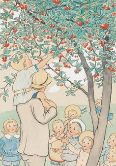 View Visillustrationer ur dags visor by Elsa Beskow on artnet. Browse upcoming and past auction lots by Elsa Beskow. Elsa Beskow, Vintage Artwork, Vintage Children's Books, Vintage Paintings, Book Images, Beatrix Potter, Children's Book Illustration, Childrens Books, Illustrators