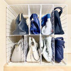 Closet Hacks, Diy Crafts Hacks, Daiso, Diy Interior, Bag Storage, Wardrobe Rack, Living Spaces, Room, Style
