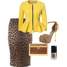 Leopard & Yellow Paired ❤