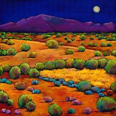 Cactus Painting - Midnight Sagebrush by Johnathan Harris