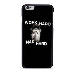 Work Hard Nap Hard Duck Dinasty Quote iPhone 6 Case
