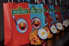 Elmo Party Favor Goldfish Jars Dorothy Sesame Street Red Aqua Decor Goodie Bags