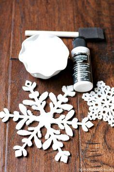 Winter Wonderland Tree - Handmade Ornaments - A Pumpkin And A Princess - Epsom salt snowflake