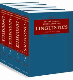 Comprising more than one million words, the 2nd edition of the International Encyclopedia of Linguistics encompasses the full range of the contemporary field of linguistics, including such areas as historical, comparative, formal, mathematical, functional, and philosophical linguistics. Special attention is given to interrelations within branches of linguistics and to relations of linguistics with other disciplines.