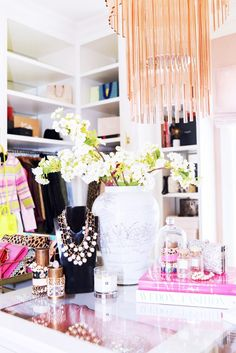 Step Inside a Design Blogger's Chic Office Closet// styling