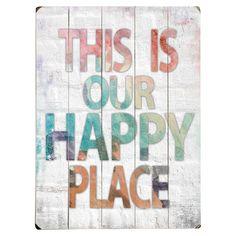 Happy Place Wall Decor - Right on Hue on Joss & Main