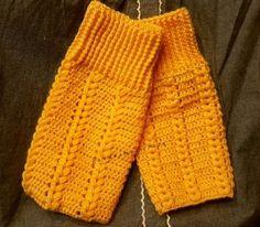 玉編みのぷくぷくハートレッグウォーマーの作り方
