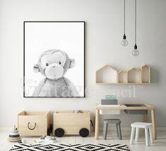 nursery decor jungle animal print safari nursery zoo animal monkey print baby monkey monkey art monkey printable monkey nursery - The world's most private search engine Monkey Nursery, Safari Nursery, Nursery Decor, Room Decor, Baby Decor, Nursery Ideas, Ikea Kids, Ikea Playroom