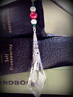 Christmas Crystal Bookmark. $8.00, via Etsy.