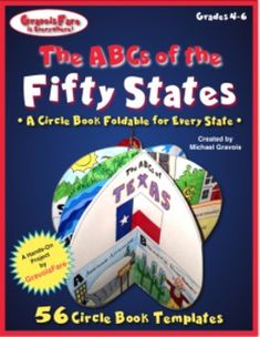 The ABCs of the Fifty States:A Circle Book Foldable for Every StateStudents will demonstrate a broad knowledge of the fifty states with these easy-to-make, circle book foldables. Students will brainstorm an alphabetical list of things related to an assigned state, using the index, headlines, and italicized phrases from a state-related trade book.
