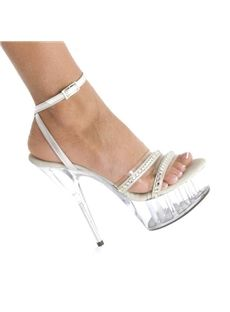 Graceful Open Toe Transparent Hell Wedding Shoes