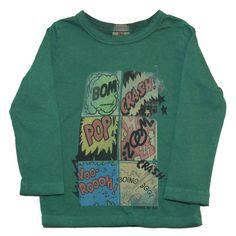 camiseta american outfitters niño con comic